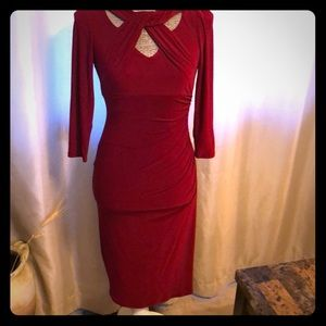 INC fitted red dress
